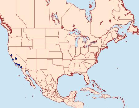 Distribution Data for Neocrania bifasciata